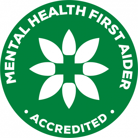 Accredited Mental Health First Aider Badge